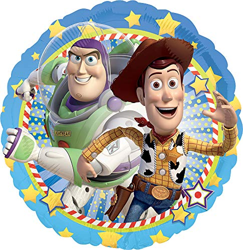 - Anagram International HX Woody And Buzz Packaged Party Balloon, Multicolor