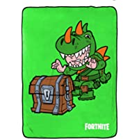 Fortnite Rex Blanket - Measures 62 x 90 inches, Kids Bedding - Fade Resistant Super Soft Fleece - (Official Product)