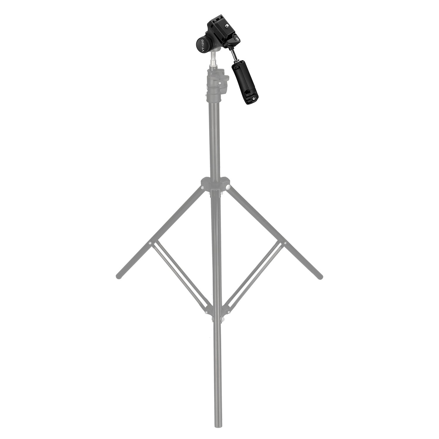 Kamisafe KINGJOY VT-1310 Portable Lightweight Camera Video Tripod Pan Tilt Head with 1/4\