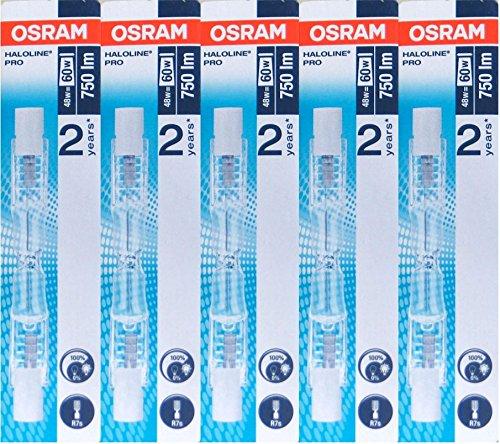 24 opinioni per 5x Osram lampada alogena Haloline Pro, 78mm, R7s, 230V, 48W, 64684