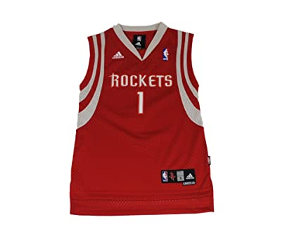 Amazon.com   adidas Houston Rockets  1 Tracy McGrady Youth Red ... 4801f6271