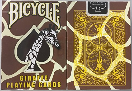 - Bicycle Giraffe Deck Playing Cards - Brown Yellow White Skin Back Design by USPC