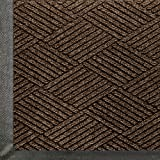 Andersen 2295 WaterHog Eco Premier Polyester Fiber Entrance Indoor/Outdoor Floor Mat, SBR Rubber Backing, 8.4' Length x 4' Width, 3/8'' Thick, Chestnut Brown