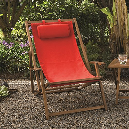 Amazon.com: Arboria 880.1303 Foldable Outdoor Wood Sling Chair ...