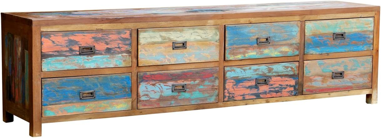 Chest with 8 Drawers Made from Recycled Boats