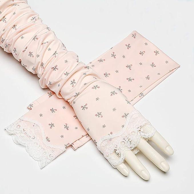 SVNA Guantes sin Dedos Largos de algodón de protección UV para ...