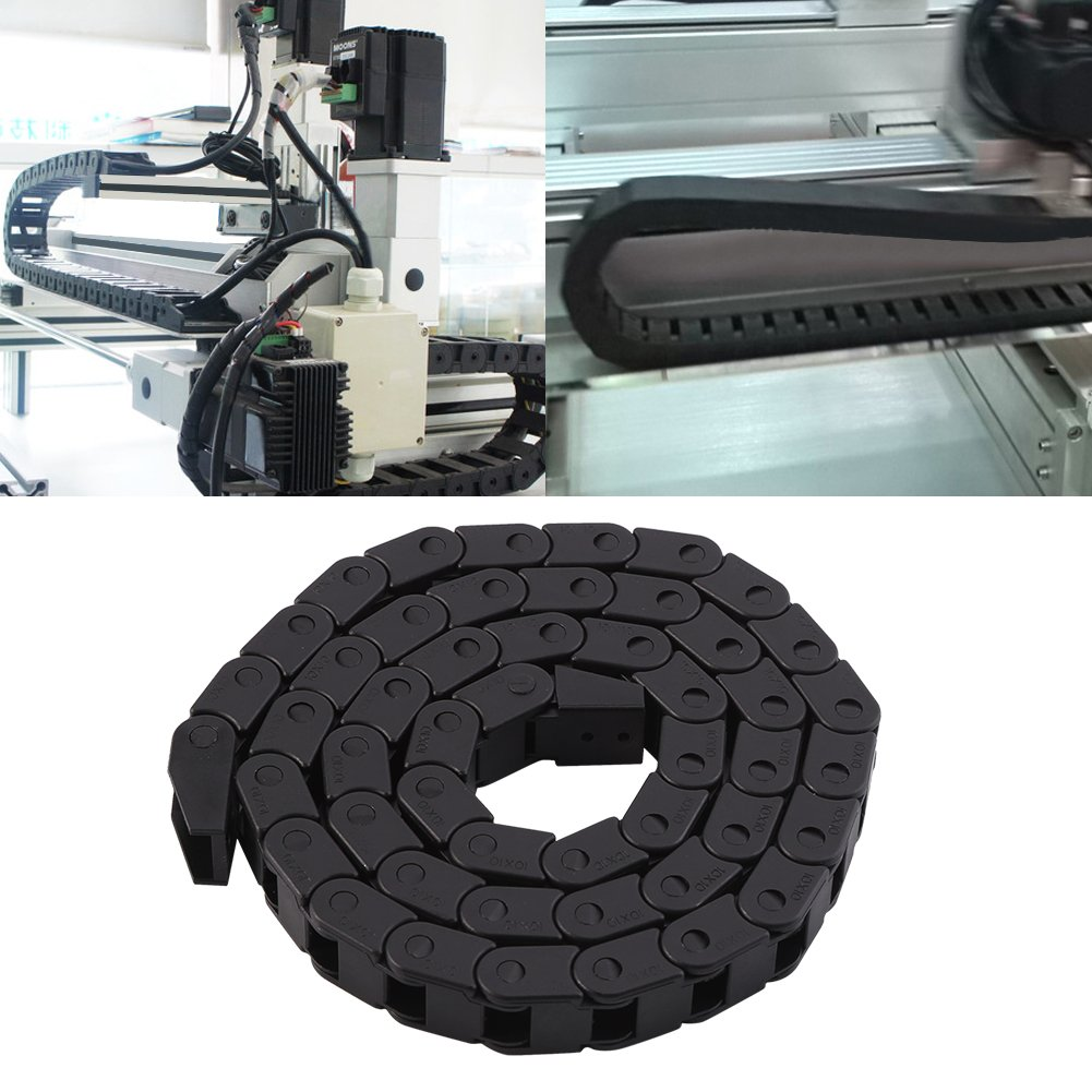 R28 Cable Drag Chain, 10/×10mm Black Nylon Cable Drag Chain Wire Carrier 1000mm//40 Long For 3D Printer//CNC Router Machine Acogedor