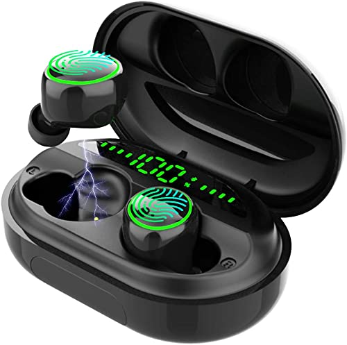 Wireless Earbuds Bluetooth 5.0 Headphones 3500mAh Charging Case 150H Playtime IPX8 Waterproof Noise Cancellation Stereo in-Ear Sports Headset Built-in Mic for Running Working Driving Gym