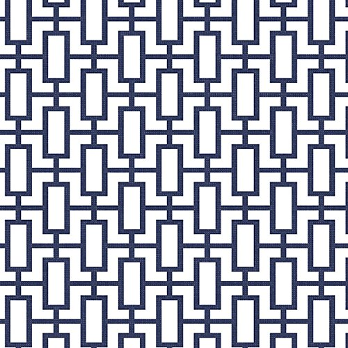 Manhattan comfort NWSH34507 Sheffield Series Vinyl Geometric Link Design Large Wallpaper Roll, 20.5
