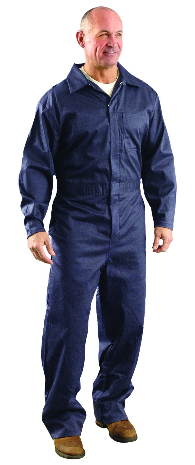 OccuNomix G906NB-2X Premium Nomex Flame Resistant Coverall HRC 1, 6 oz, Navy Blue, 2X-Large