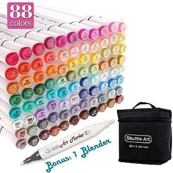 Shuttle Art 15 Colors Grey Tones Dual Tip Art Marker Permanent Marker Pens with