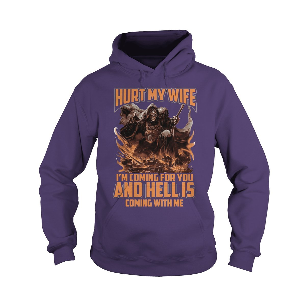Hoodie Purple XXLarge Hurt My Wife I'm Coming for You TShirt