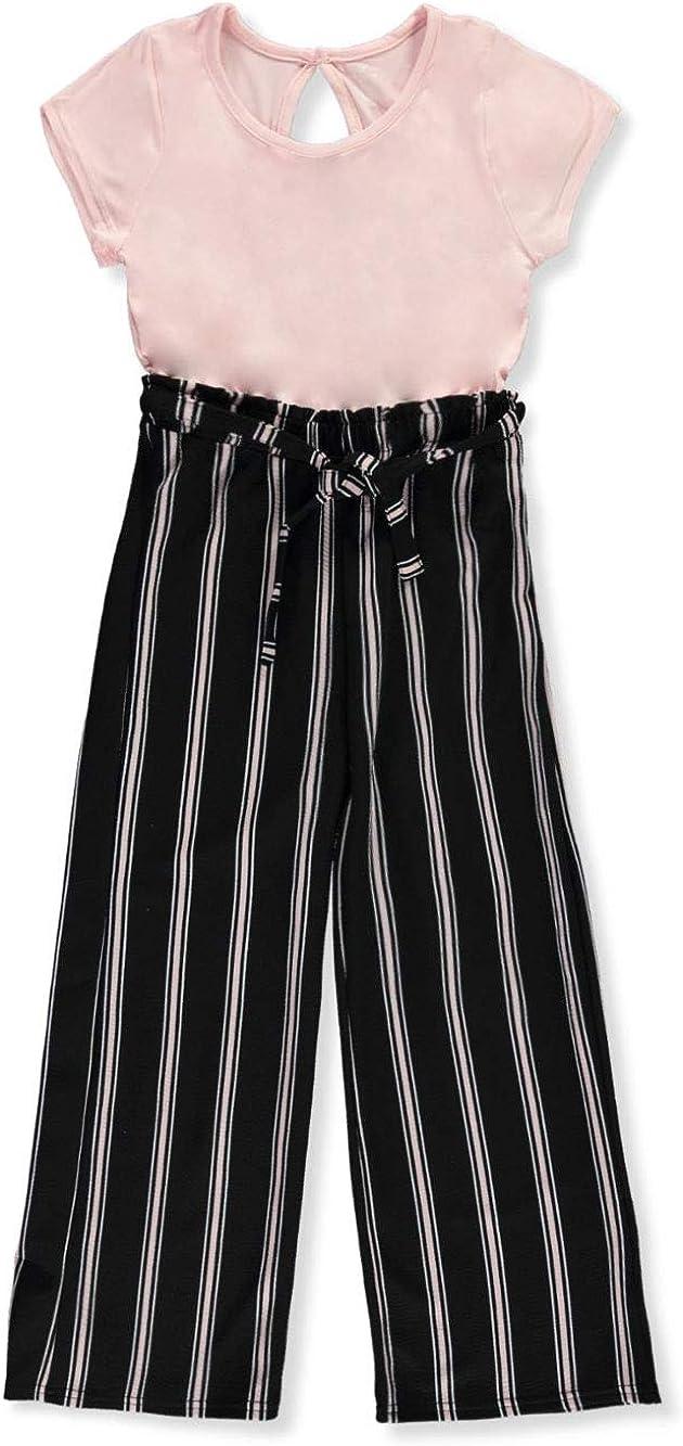 One Step Up Girls Stripe to Stripe Jumpsuit