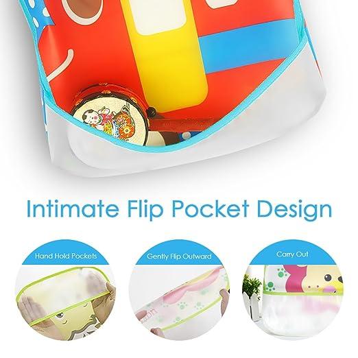 Amteker 10Pcs Baberos Bebe EVA Impermeables Unisexos con Diseño de Dibujos Animados para Niños Niñas de 6 Meses a 6 Años: Amazon.es: Bebé