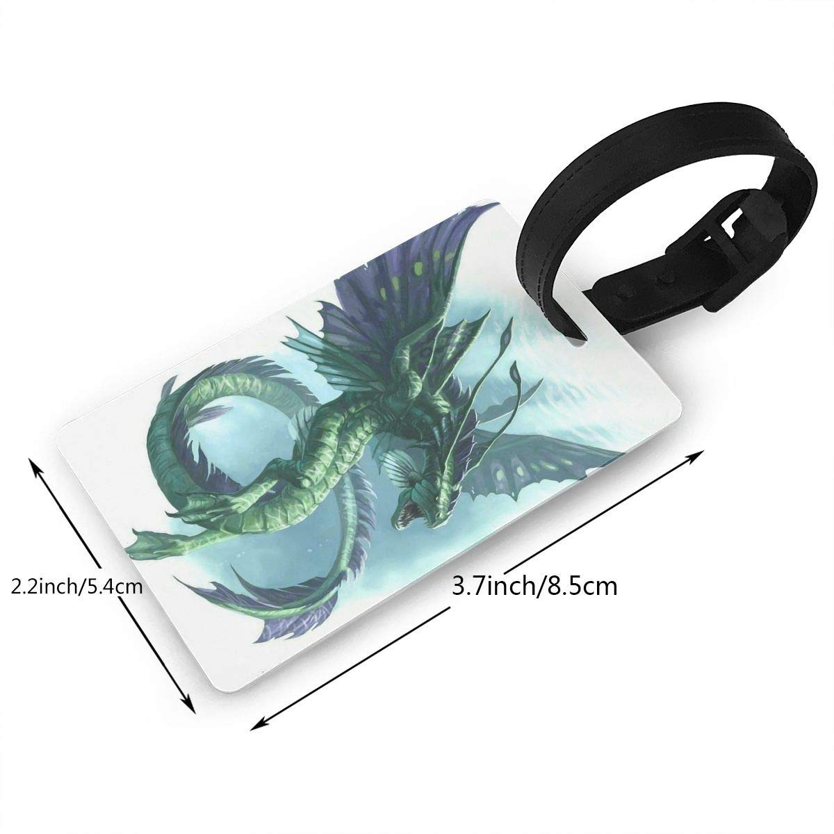 Dragon Pattern Baggage Tag For Suitcase Bag Accessories 2 Pack Luggage Tags