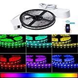 COOSA LED Strip Lights Wifi Wireless Smart Phone Control 5M 16.4Ft 300 LED Light Strips Kit 5050 RGB Waterproof IP65 Compatible with Alexa Google Home IFTTT Android and iOS for Home,Party,Ad Decor,Bar