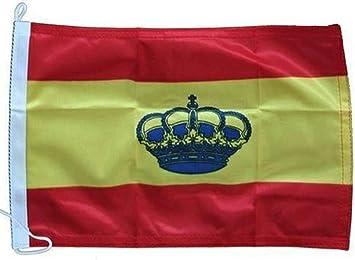 Lalizas Bandera de España con Corona para Barcos 70x100 centímetros: Amazon.es: Deportes y aire libre