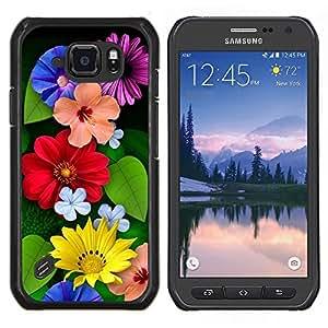 LECELL--Funda protectora / Cubierta / Piel For Samsung Galaxy S6Active Active G890A -- Floral de primavera y verano Flores Día de la Madre --