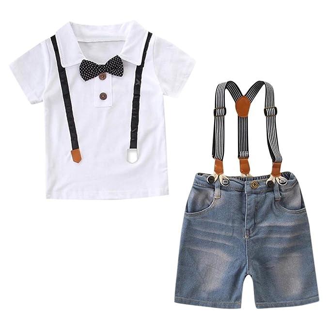 Amazon.com: Alelife 2-8 años bebé niño ropa Bowtie Top ...