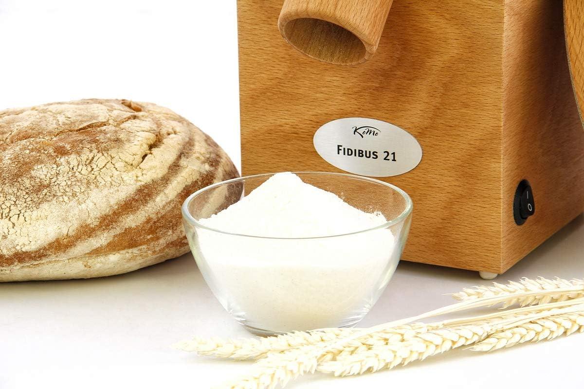 KoMo Fidibus 21 - Molinillo de cereales (250 W, madera): Amazon.es ...