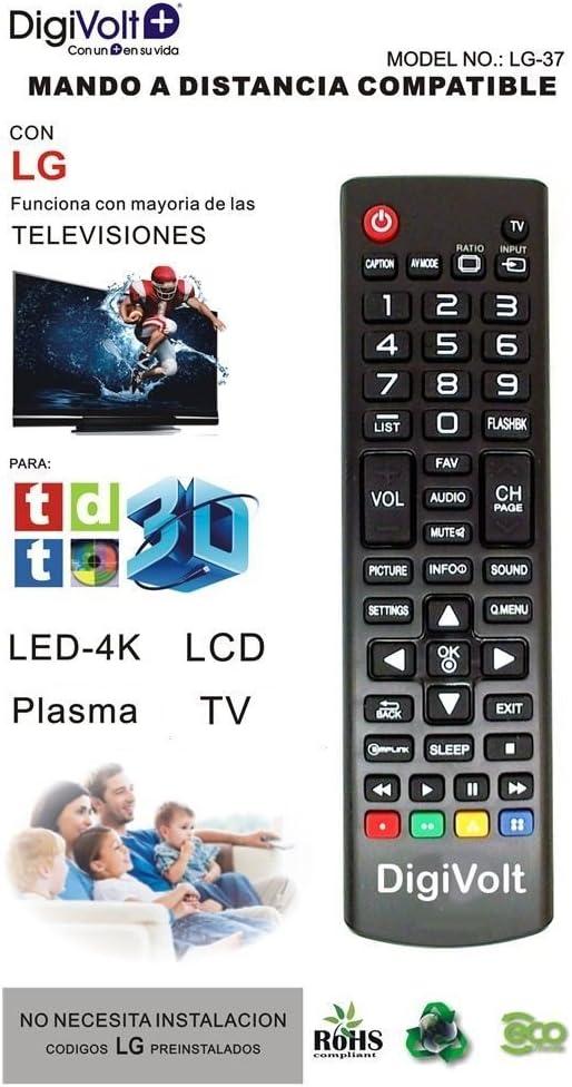 JPWOnline - Mando a distancia compatible con LG Digivolt LG-37 ...