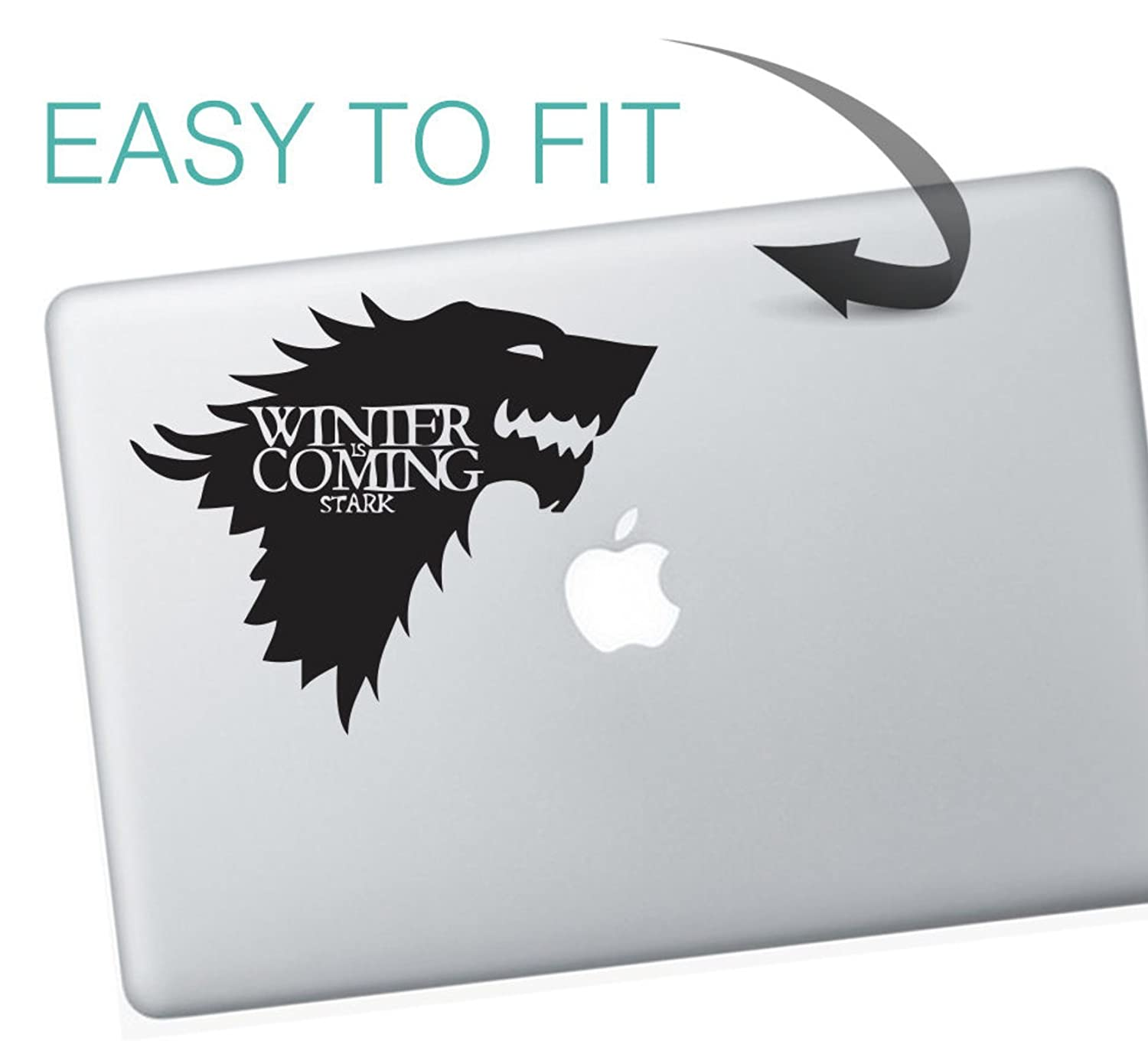 Game of thrones macbook sticker winter is coming house of stark by decorsfuk co amazon fr bricolage