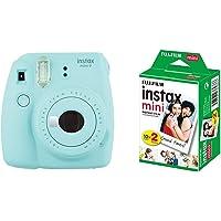 Fujifilm Instax Mini 9 Kamera, eis blau mit Film