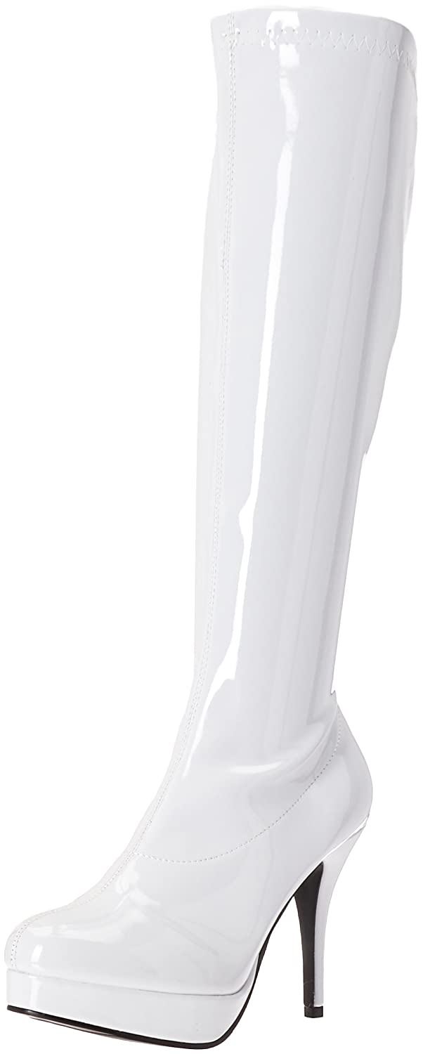 Ellie Shoes Women's 421-Groove Engineer Boot B00JEF9FLM 6 B(M) US White