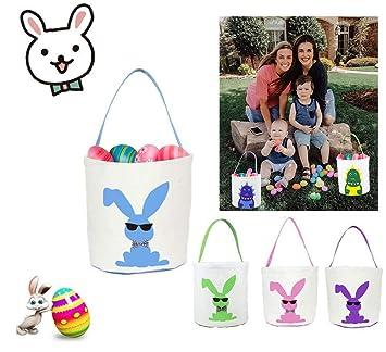 Purple Agevance Easter Basket Easter Bunny Bag for Kids Easter Hunt Bag Gift Toy Bucket Tote