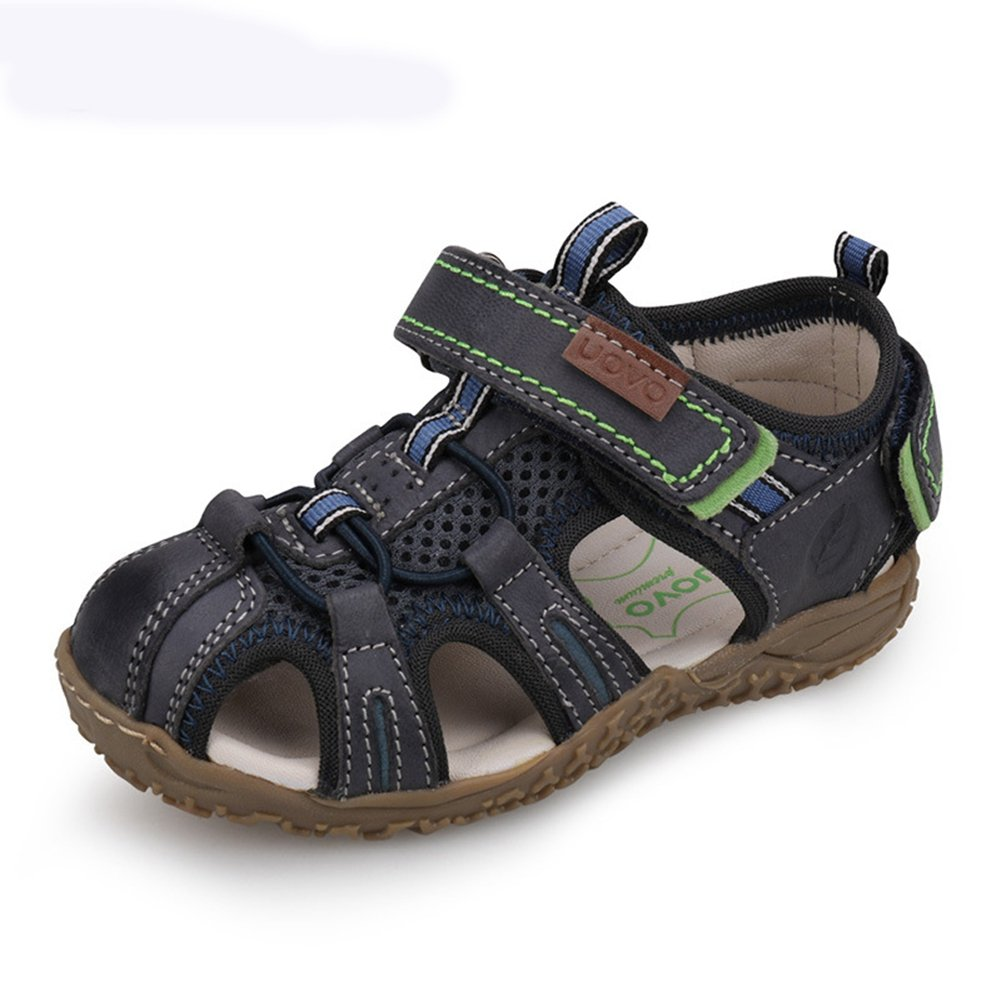 U-MAC Boys Sandals Girls Sandals Closed Toe Bungee Strap Anti-Collision Outdoor Athletic Shoes for (Little Kid/Big Kid) Dark Blue