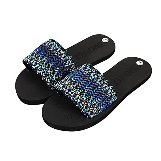 5bc92520a8e7 Women s Easy Braided Thong Flip Flop Sandal Faux Leather D Orsay Pointed  Toe Flats Blue