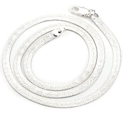 New Fashion Jewelry Classic Beautiful 925 Womens solid Silver Snake chain necklace + velvet pouch GLcoult