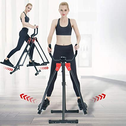 Elliptical Training Machines Space Walker Foldable Air Walk Trainer Air Glider Fitness Steppers Glider Elliptical Exercise Machine Fitness Home Gym Cardio Workout Air Walkers