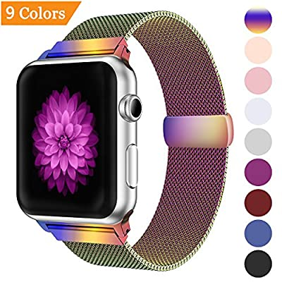Bandx Milanese Loop Band for Apple Watch 38mm 42mm,Stainless Steel Mesh Band with Magnetic Closure for iWatch Series 3 Series 2 Series 1 from Bandx