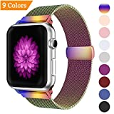 Bandx Milanese Loop Replacement Band Compatible Apple Watch 38mm 42mm,Stainless Steel Mesh Band Magnetic Closure iWatch Series 3 Series 2 Series 1