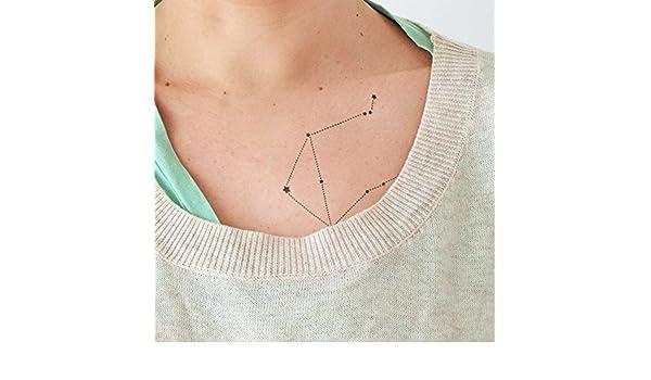 Libra - Tatuaje temporal (conjunto de 2): Amazon.es: Handmade