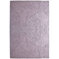 iCustomRug Bella Shag Rug - Luxurious and Thick Lilac 4 Feet X 6 Feet (4 x 6) Soft & Shaggy Double Textured Fiber For A Modern Home Decor
