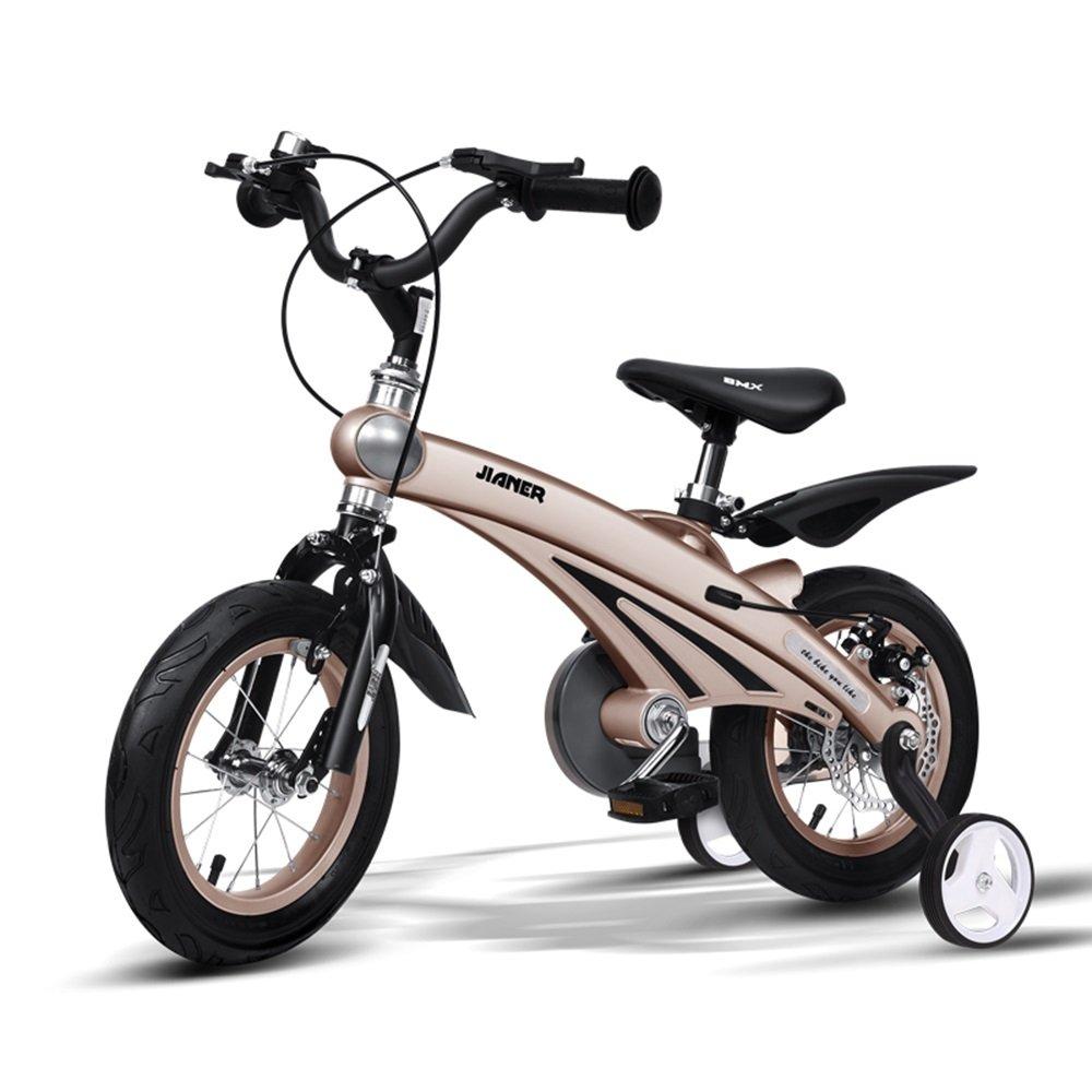 美しい 家子供用自転車、3歳の乳児用乳母車、自転車、マウンテンバイク、子供用自転車 (色 : ゴールド, サイズ さいず : 85*38*64cm) B07CXFWRW3 85*38*64cm|ゴールド ゴールド 85*38*64cm