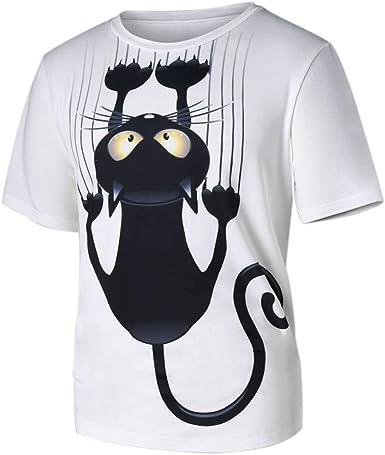 YUNY Mens Plus Size Short-Sleeve Summer Print Tees Top Shirts 5 3XL