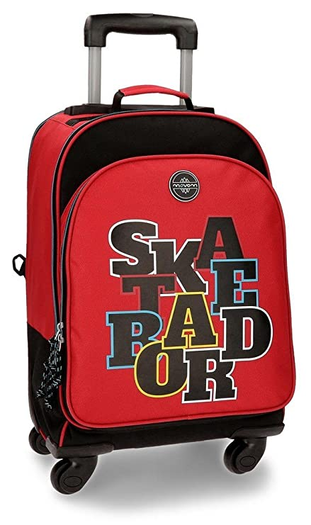 MOVOM Sac à dos scolaire avec chariot Skateboard Blue A98N22zL