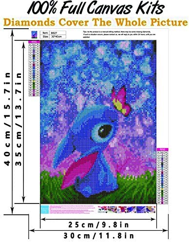 6 Pack DIY 5D Diamond Painting Kits for Adults, Round Full Drill Cartoon Crystal Rhinestone Embroidery Cross Stitch Picture Supplies Arts Craft for Home Wall Decor (12x16inch)