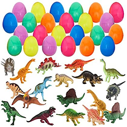 Amazon cambodia shopping on amazon ship to cambodia ship overseas 24 easter eggs with 24 mini dinosaurs easter egg toy gift for kids boys negle Choice Image