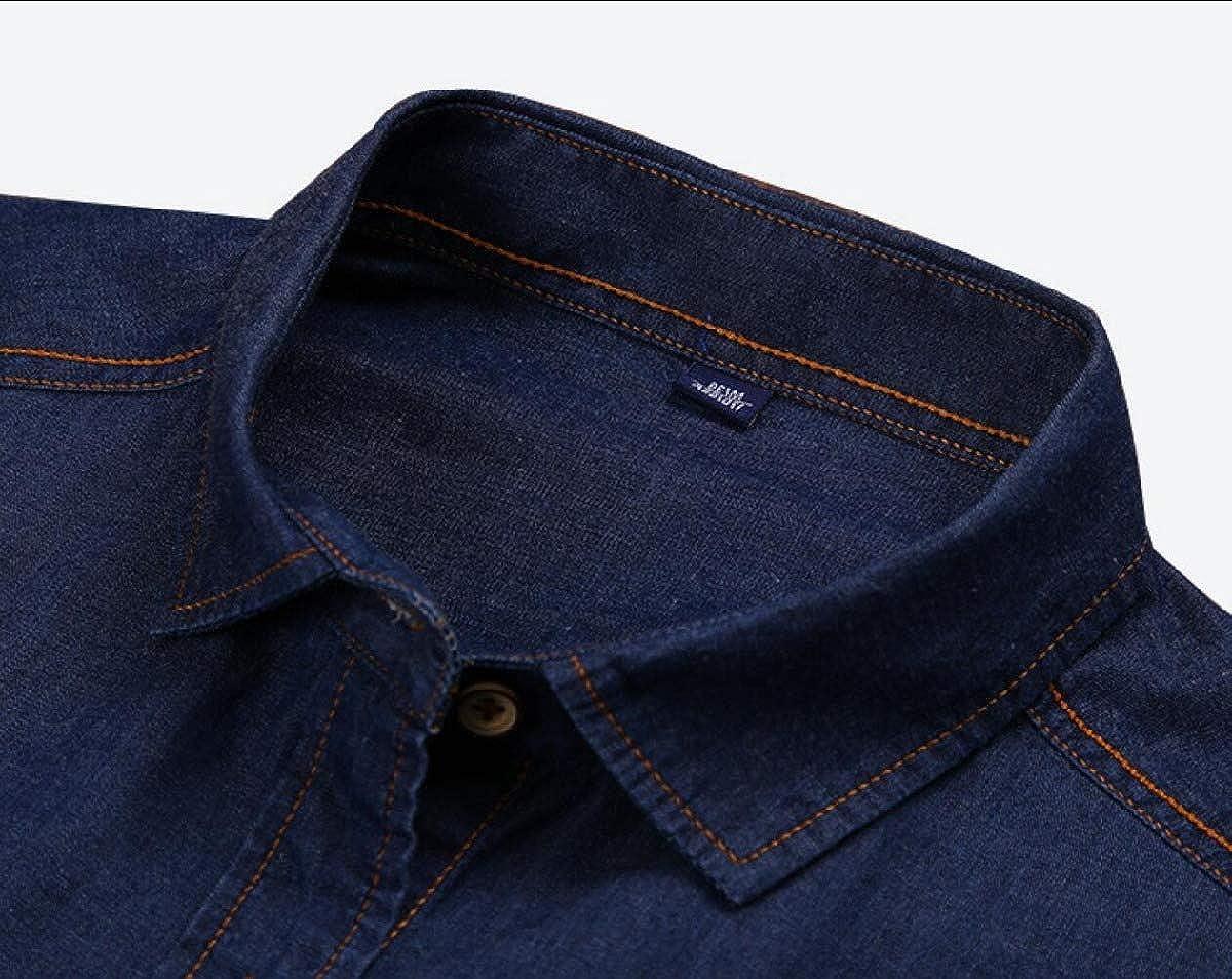 Mfasica Mens Western Button Down Shirts Long Sleeve Regular Fit Shirts