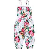 Chinatera Little Girls Kids Halter Romper Harem Pants One-Piece Jumpsuit Cotton