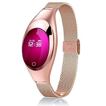 gouxia74534 Pulsera Inteligente Pulsera Inteligente Relojes Unisex Pulsera Inteligente Pulsera Bluetooth Tensiómetro oxígeno Monitor de Ritmo cardiaco ...