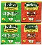 Herb-Ox Sodium Free Bouillon Bundle - 4 Items (2 Beef Bouillon and 2 Chicken Bouillon) - Super Value