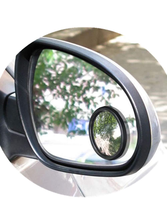 2個超薄型広角ラウンド凸ブラインドスポットミラー用駐車場リアビューミラー ブラック B07CH86W5P ブラック