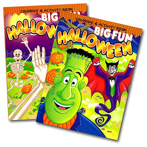 Big Fun Halloween Coloring Activity Books Set of (Halloween Activities For 3 Year Olds)