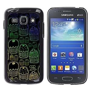 TECHCASE**Cubierta de la caja de protección la piel dura para el ** Samsung Galaxy Ace 3 GT-S7270 GT-S7275 GT-S7272 ** Cupcake Muffin Wallpaper Sweets Pattern