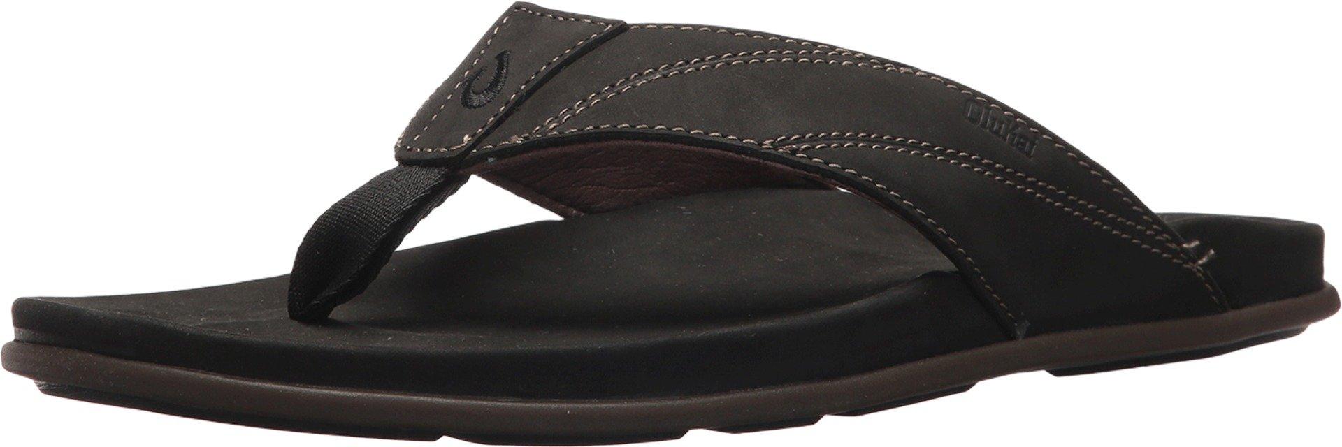 OLUKAI Pikoi Sandal, Black/Black, 12
